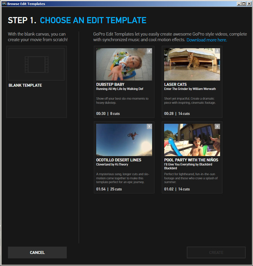 how to use gopro studio templates - slashcam news gopro studio 2 0 immediately almost an