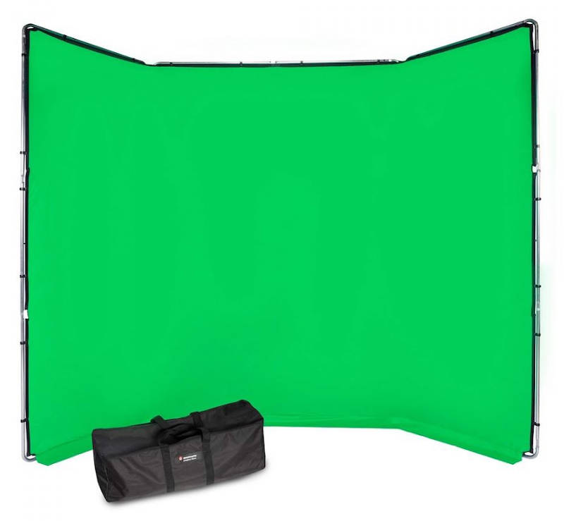 Manfrotto background kit Chroma Key FX: Transportable green/blue screen with large surface