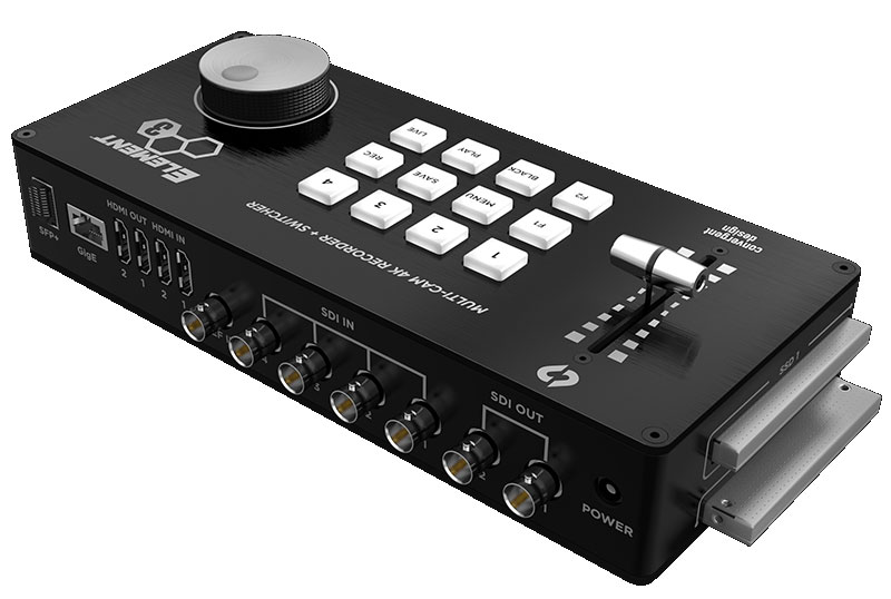 Convergent Design Element: neue 4-Kanal Multi-Kamera Rekorder/Switches