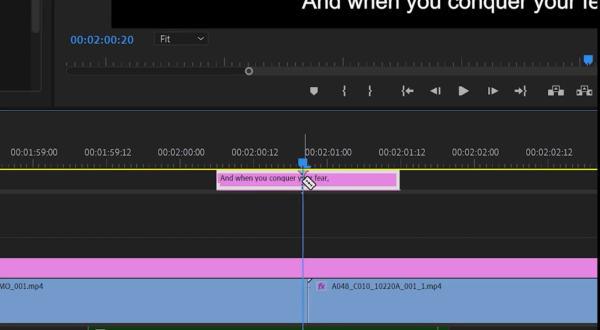 Adobe-Captions-timeline