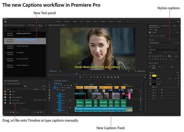Screenshot-Untertitel-Workflow