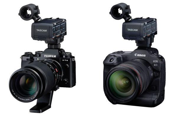 XLR-Mikrofonadapter_Tascam_canon_fujifilm