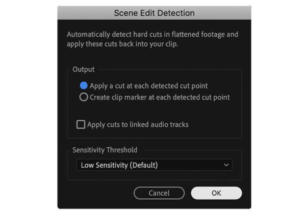 premiere_scene_Edit_detection