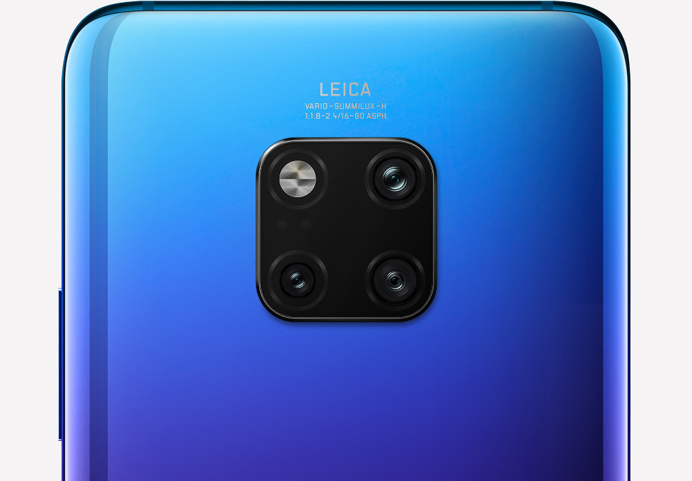 Huawei Mate 20 Pro smartphone features 16-80mm Leica triple camera