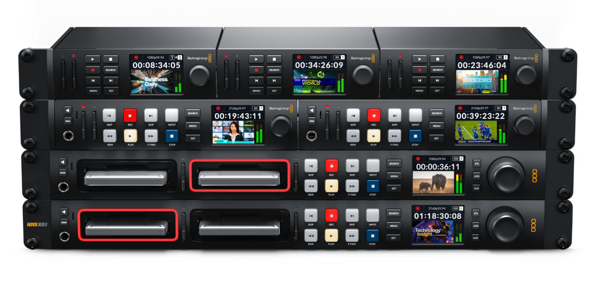 New Blackmagic HyperDeck Studio Recorders Record H.264, ProRes and DNx
