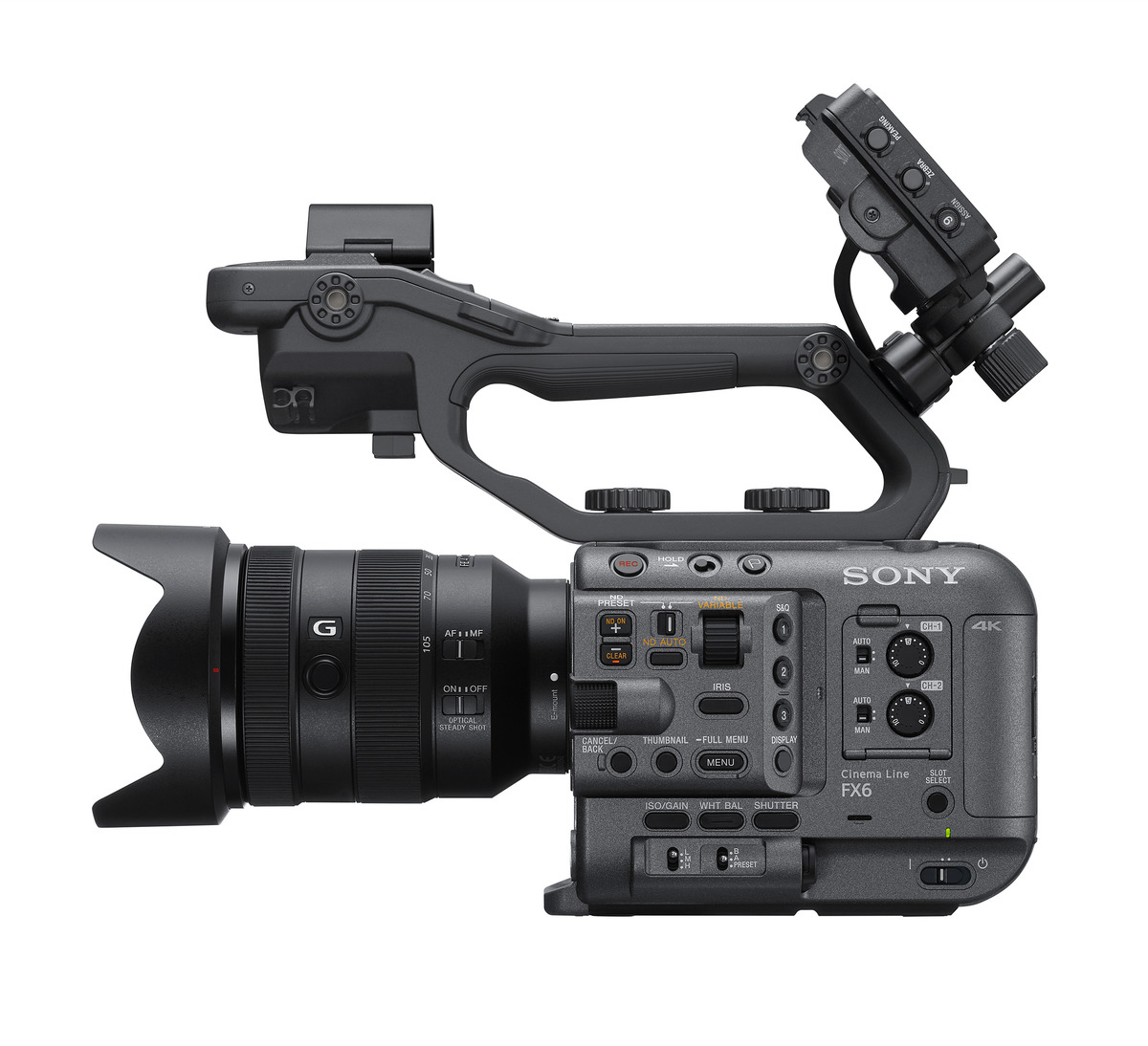 Sony FX6: Full format successor of the FS5 MKII with 10.2 MP sensor, 2xXLR , S-Log 3, 120 fps, exter