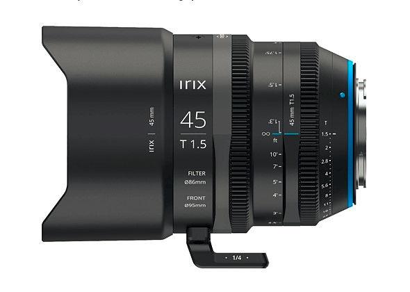Irix Cine 45mm T1.5 -- third fullframe lens announced