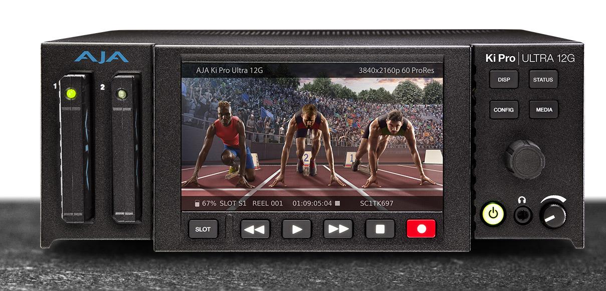 AJA Ki Pro Ultra 12GAJA Ki Pro Ultra 12G: 12G 4K-UltraHD ProRes multi-channel recorder and player