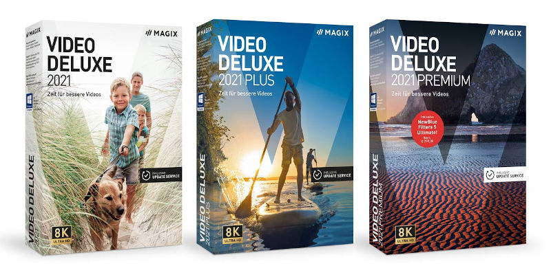 Magix Video deluxe 2021 supports 8K editing