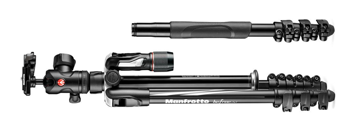 Neue Manfrotto travel tripods -- Befree 2N1, Befree Live QPL // Photokina 2018