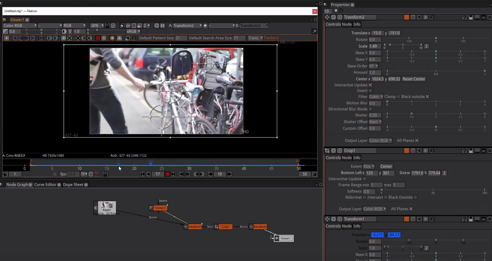 20 video tutorials about Natron, the free compositing program