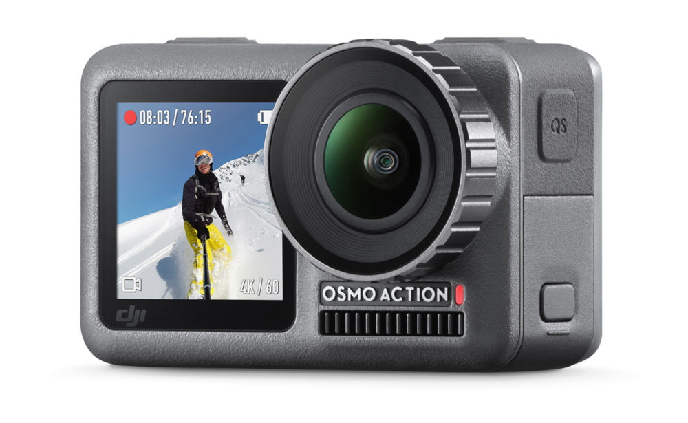 Waterproof DJI Osmo Actioncam announced with 4Kp60 and dual displays