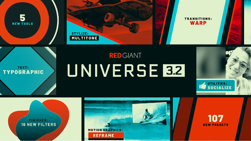 Typo, Warp and more: 5 new plugins added in Red Giant Universe 3.2