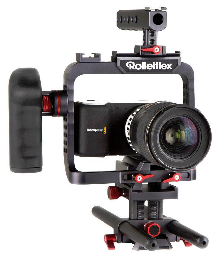 rolleiflex 4k kamera cage f r gh4 und co. Black Bedroom Furniture Sets. Home Design Ideas