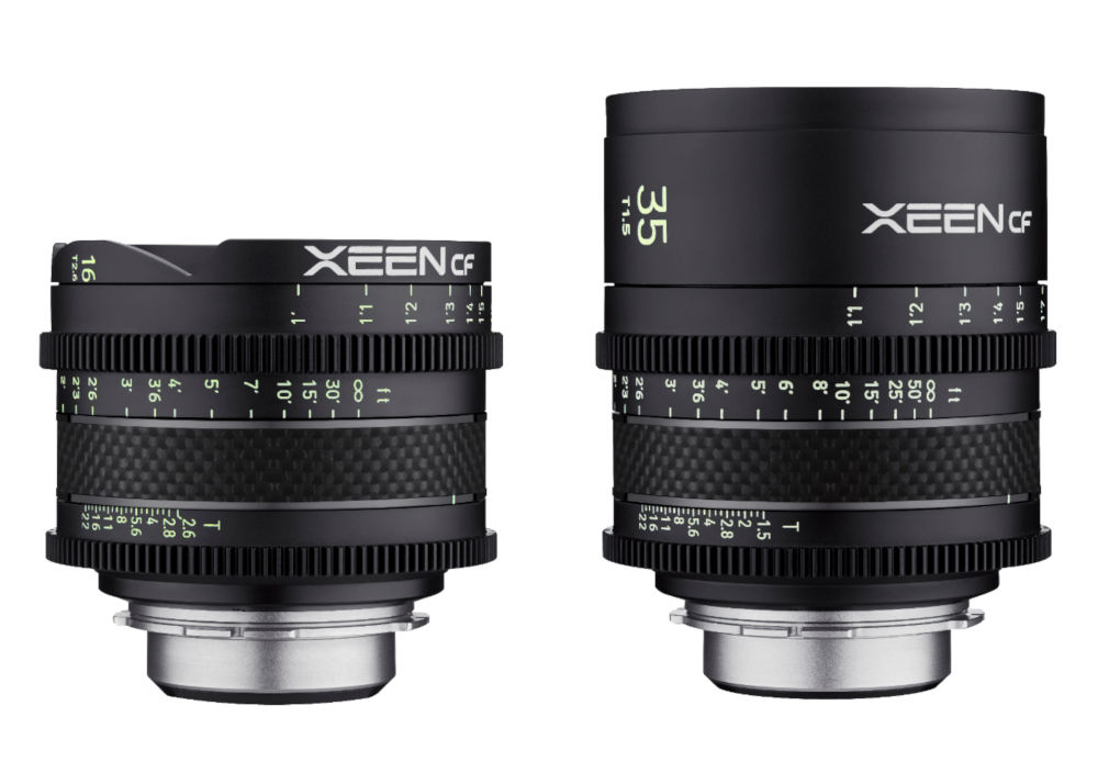 New cine lenses in the Samyang XEEN CF series - 16mm T2,6 and 35mm T1,5