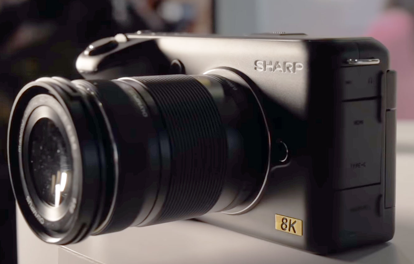 8K MFT camera surprise from Sharp to NAB. With the help of RED?