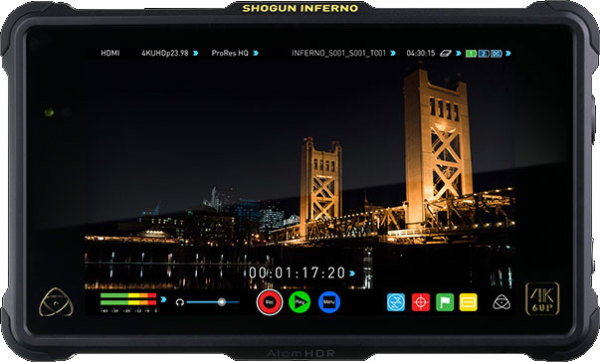 Atomos 8.42 update for Shogun Inferno with 6G compatibility for Panasonic EVA1, Alexa Mini and other