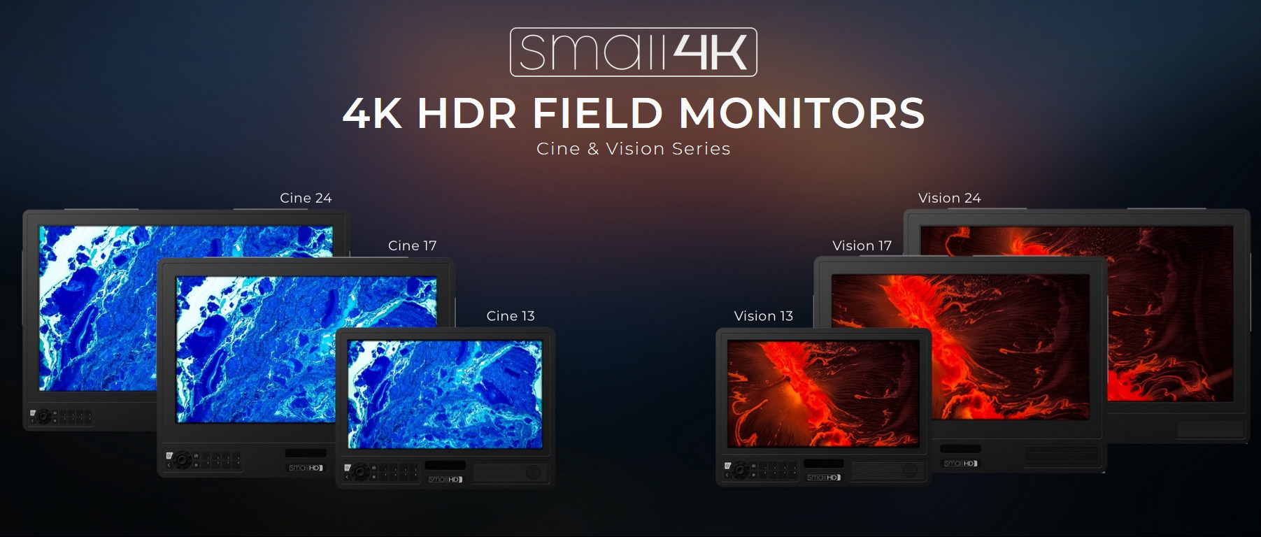 smallHD Cine/Vision: New 4K field monitors in sizes from 13 to 24