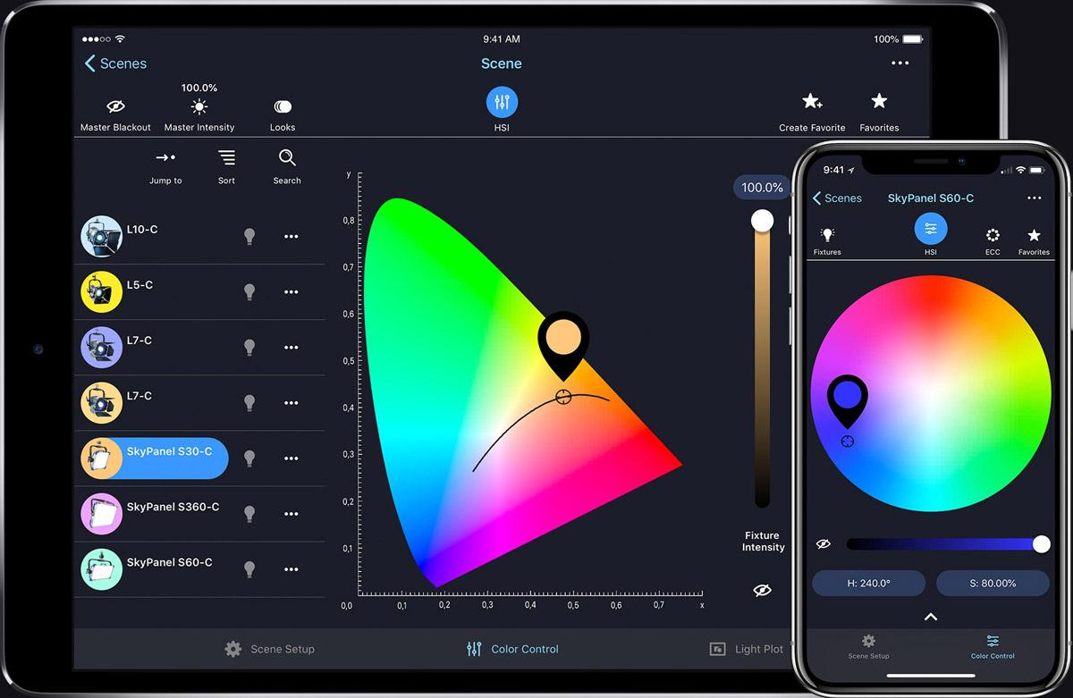 arri stellar intelligente visuelle lichtsteuerung per app ibc 2018. Black Bedroom Furniture Sets. Home Design Ideas