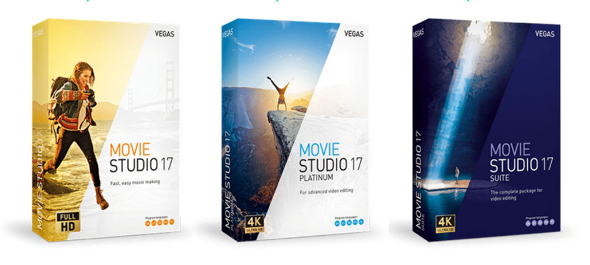 Vegas Movie Studio 17 with GPU decoding and new slow motion effects
