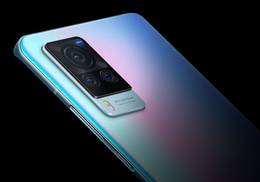 Vivo X60 Pro 5G Smartphone -- gimbal-stabilized camera with Zeiss lens