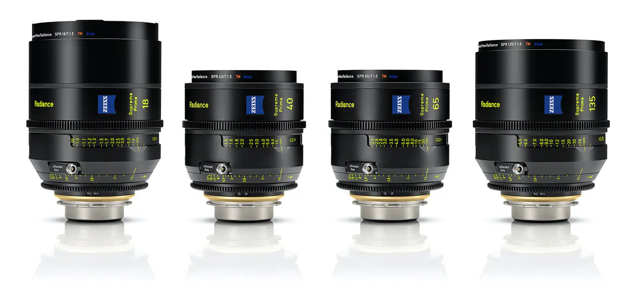Four new lenses expand the ZEISS Supreme Prime Radiance Cine series