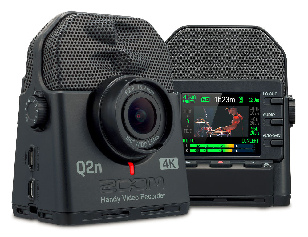 Zoom Q2n-4K audio-/video recorder with XY-stereo and live-streaming